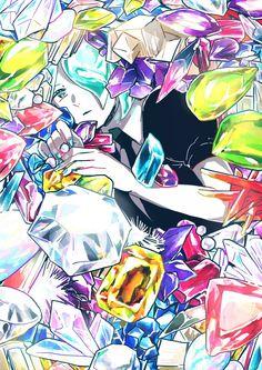 |Houseki no Kuni| Phosphophyllite Nouveau Manga, Anime Nerd, Animation, Dark Art, Cool Drawings, Original Artwork, Cool Art, Illustration Art, Geek Stuff