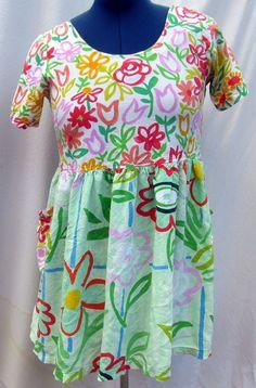 Jams World Hattie Dress Medium Tulips Floral Flower Pastels Spring Watercolor #JamsWorld #Hawaiian #SummerBeach