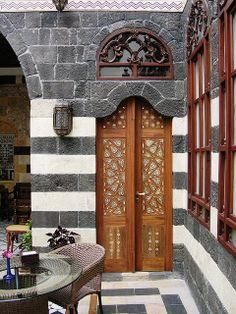 Syria~Door to Our Room, Beit Ak-Bik Hotel, Damascus, Syria photo by David, via Flickr