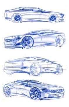 Peugeot Exalt Design Sketches by Chief Designer Romain Saquet - Car Body Design