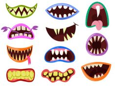 Monster mouth clip art Monster clipart Halloween by VectorWizard Halloween Clipart, Halloween Crafts, Halloween Decorations, Little Monster Party, Monster Birthday Parties, Cartoon Monsters, Cute Monsters, Monster Clipart, Monster Decorations