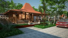 Javanese joglo house//3d design and rendering by Cart Project Indonesia