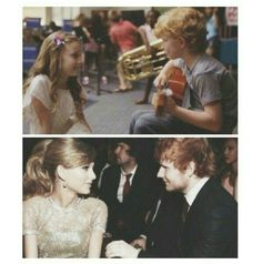 This is adorable. I can't even. ♥ Taylor Swift and Ed Sheeran