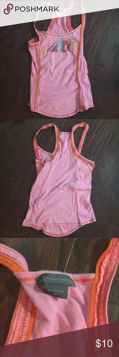 Armani Exchange Pink Tropical Tank Med Armani Exchange Pink Tropical Tank Med A/X Armani Exchange Tops Tank Tops