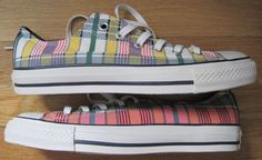 1S184 CONVERSE CT AS PRT OX~Men's/Women's Sneakers~Madras Plaid~M 7.5 W 9.5 #Converse #Athletic