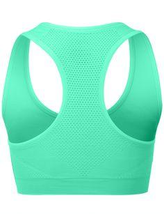 LE3NO Womens Racerback Workout Sports Yoga Bra