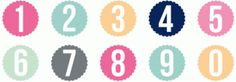 Silhouette Design Store: scallop circle monogram numbers