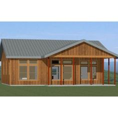 Metal Barn House Plans, Metal Roof Houses, Modern House Plans, House Floor Plans, Metal House Kits, Steel Home Kits, Dog Trot House Plans, Metal Buildings, Metal Building Kits