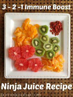 Immune Builder In a Cup Ninja Juice Recipes, Ninja Blender Recipes, Fruit Drinks, Fruit Smoothies, Healthy Smoothies, Yummy Drinks, Healthy Foods, Beverages, Healthy Eating