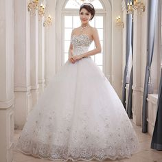 princess wedding dresses with diamonds and lace - Google Search