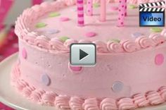 This Vanilla Cake has a sweet buttery flavor and a moist velvety texture. The buttercream frosting used to both fill and frost the cake has a sweet and buttery flavor with a light and fluffy texture. From Joyofbaking.com With Demo Video