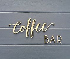 Coffee Bar Small Wall Sign, Kitchen Dining Room Office Break Room Home Wall Art Drink Housewarming Gift Wood Sign Decor Wedding