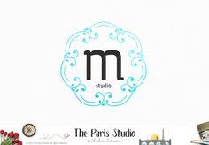 DIY Instant Download Logo PSD Floral Gold Frame Logo Template