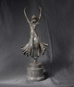 French Bronze Casting Deco Dancer by Chiparus.  I love her.