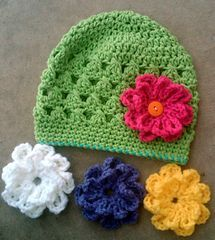 Cotton Hat- FREE PATTERN from Heidi Yates @ Snappy Tots