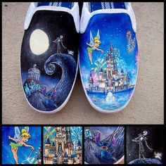 Disney Land Shoes by ChromaSouls on Etsy, $200.00 -Gorgeous, but pricey!