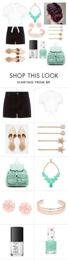 """""""Pretty in Pastels!"""" by sapphirelilirose13 ❤ liked on Polyvore featuring Miss Selfridge, Warehouse, Tasha, T-shirt & Jeans, Kendra Scott, Dettagli, Leith, NARS Cosmetics, Topshop and women's clothing"""