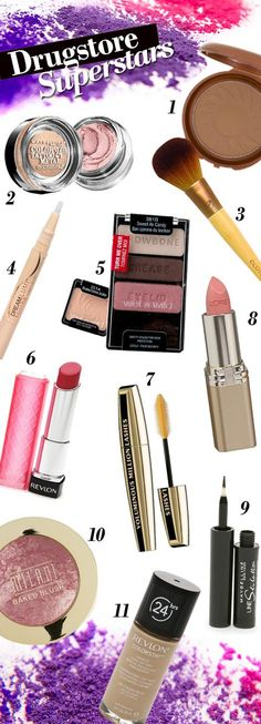 Drugstore Superstars: The Best Cheap Makeup Products. I am all about drugstore makeup. All Things Beauty, Beauty Make Up, Hair Beauty, Makeup To Buy, Love Makeup, Makeup Blog, Makeup Tips, Dark Makeup, Simple Makeup
