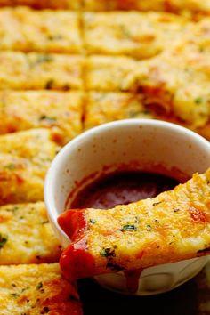 Garlic Cheese Breadsticks Recipe | Grandbaby Cakes