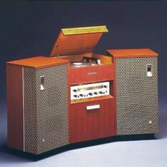 In 1962 Pioneer Introduced the worlds first separate stereo system with detachable speakers. This model was extremely successful and became the industry's standard format. Audio Design, Speaker Design, Radios, Stereo Cabinet, Home Speakers, Audio Room, Record Players, Hifi Audio, Audio Speakers