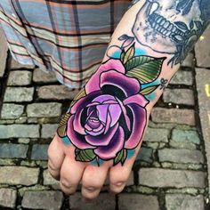 Rose Hand Tattoo... Matt Webb