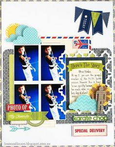 Karate Chop Layout by Leanne Allinson