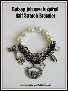 Half Stretch Bracelet easy to make at  www.craftingrebellion.com