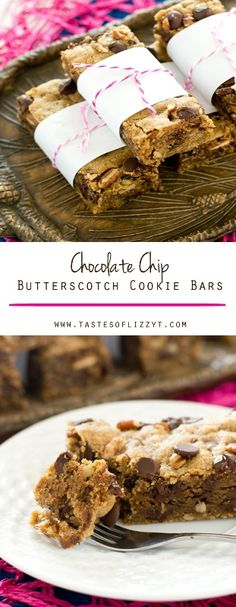 CHOCOLATE CHIP BUTTERSCOTCH COOKIE BARS on MyRecipeMagic.com. You'll fall in love with these soft, chewy, chocolate chip butterscotch cookie bars. Quicker than cookies, these sweet bars are stuffed with dark brown sugar, chocolate chips and pecans.