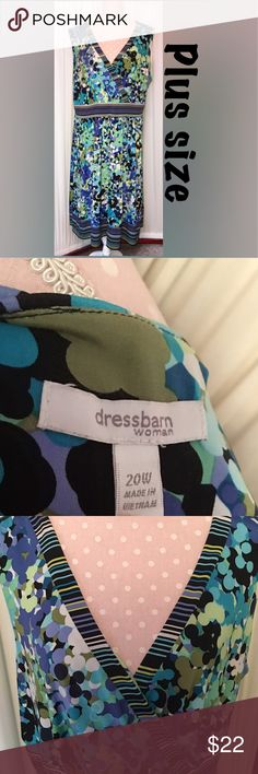 DressBarn wrap like dress EUC! Plus size dress Dress Barn Dresses