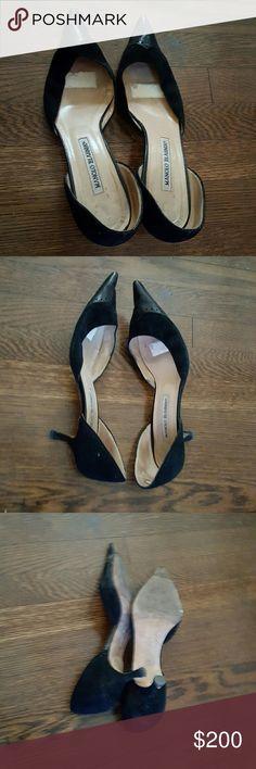 Selling this Manolo Blahnik low heel in my Poshmark closet! My username is: fludrey. #shopmycloset #poshmark #fashion #shopping #style #forsale #Manolo Blahnik #Shoes