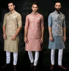Party wear indowestern outfits for men Mens Wedding Wear Indian, Wedding Kurta For Men, Mens Indian Wear, Mens Ethnic Wear, Wedding Dresses Men Indian, Wedding Dress Men, Indian Men Fashion, Groom Fashion, Punjabi Wedding