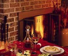 red brick fireplace - Google-Suche