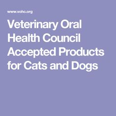 Image Result For Vohc Accepted Products For Dogs