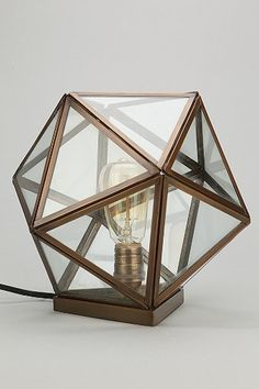 Magical Thinking Geo Table Lamp - Urban Outfitters for entryway