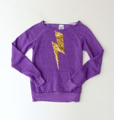 Harry Potter Inspired Sequin Lightning Bolt Elbow Patch or Front Patch Sweatshirt Jumper