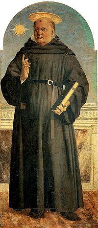 San Nicola da Tolentino è un dipinto, tecnica mista su tavola (139,4x59,2 cm), di Piero della Francesca, databile al 1454-1469 e conservato nel Museo Poldi Pezzoli di Milano. Si tratta del secondo pannello a destra di quello centrale, dello smembrato e parzialmente disperso Polittico di Sant'Agostino, originariamente dipinto per la vecchia chiesa agostiniana di Sansepolcro, oggi Santa Chiara.