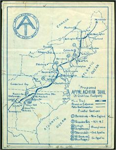 I'm loving this hand-drawn map of the Appalachian Trail. From Georgia to Maine—either 5 inches or 2,184 miles, depending on how you think of it.Via: Oh, Pioneer!