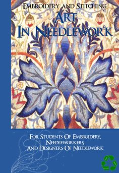 EMBROIDERY ART In NEEDLEWORK Learn What Stitches Colors and How To Use Them For Decorative Stitching Tutorial Book 300 pages