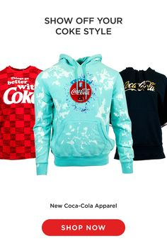 Coke Store offers a vast array of Coca-Cola clothing accessories for the whole family. You can even customize apparel for a more personal flare. Shop now! Teen Fashion Outfits, Trendy Outfits, Cool Outfits, Tween Trendy Clothes, Always Coca Cola, Teenager Outfits, Fashion Sale, Cute Shirts, Clothing Accessories