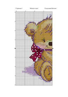 Cross Stitch For Kids, Cross Stitch Charts, Cross Stitch Patterns, Beatrix Potter, Cross Stitch Pictures, Stitch 2, Animals For Kids, Baby Pictures, Diy And Crafts