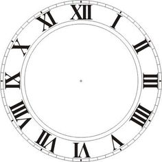 Printable Clock Faces.