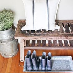 Have a tray handy for wet shoes. | 33 Incredibly Easy Tricks To Vastly Improve Your Entryway
