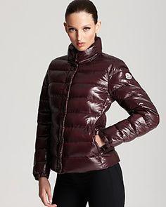 Moncler Clairy Lacquer Short Down Coat