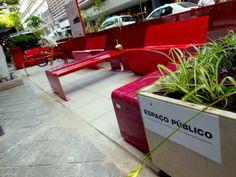 Permanent Parklets: São Paulo Turns Street Parking to Parks Design Corporativo, Urban Design, Design Ideas, Landscape And Urbanism, Urban Landscape, Pocket Park, Outdoor Cafe, Urban Park, Kiddie Pool