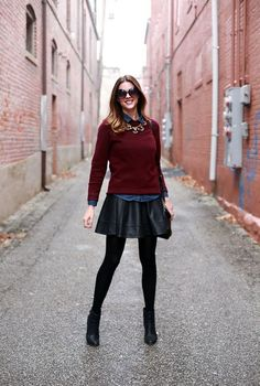 Awesome 52 Elegant Winter Outfits Ideas With Boots And Skirts. More at https://trendwear4you.com/2018/01/13/52-elegant-winter-outfits-ideas-boots-skirts/