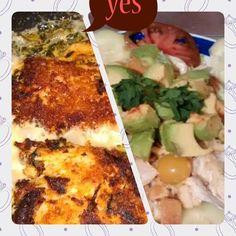 Supper 2nite #Yummy #StuffedBreastNSalad #LiteNyummy