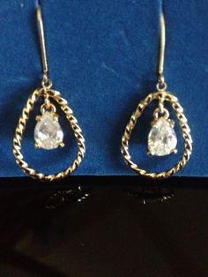 Teardrop Earrings with cz NEW