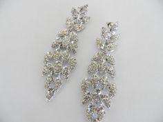 Brilliant Faux Diamond Dangle Pierced by veryfrenchbydesign, $65.00