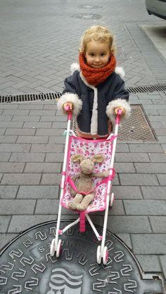 Cuello trenzado para niña en lana