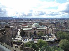 Vista de Edimburgo do alto do Castelo-agosto 2014.